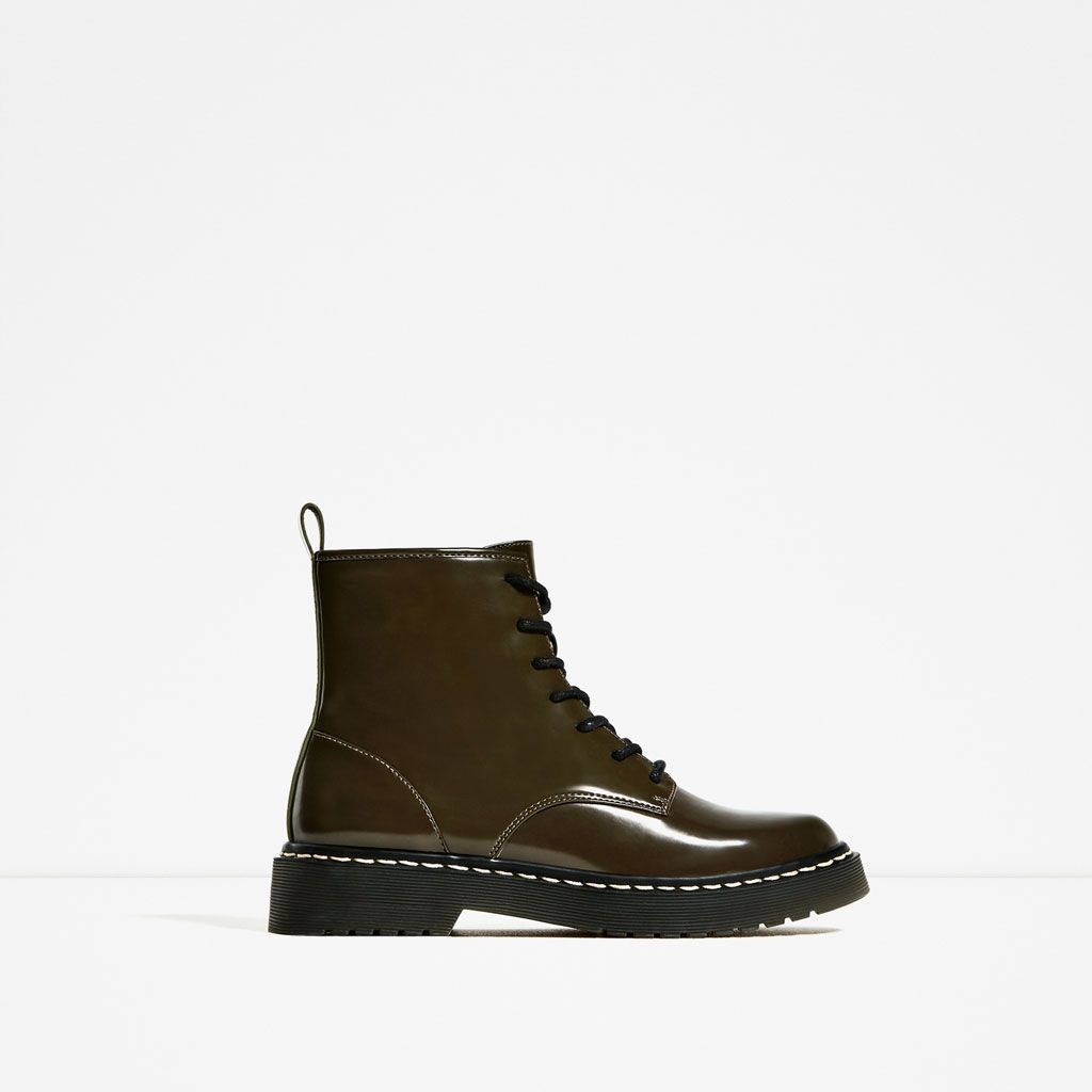 MILITARY FLAT ANKLE BOOTS-Boots and ankle boots-SHOES-WOMAN | ZARA United