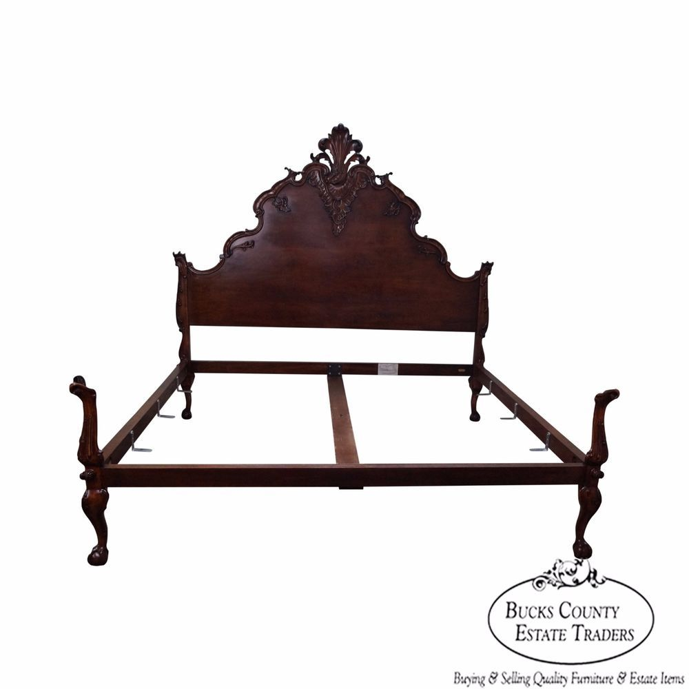 Ralph Lauren King Size French Louis Xv Style Carved Bed Louisxv
