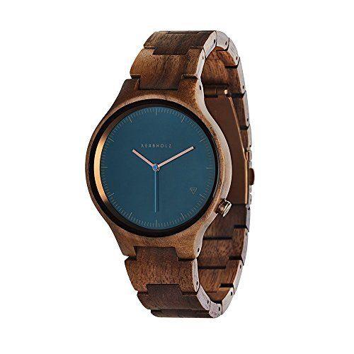 c09879dd9a88e8 ACMEDE Damen Holzuhr Armbanduhr Quarz Uhr Holzarmbanduhr Damenuhr  Lederarmband aus Bambus Braun