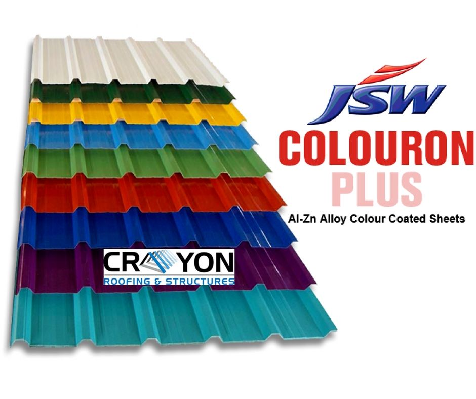 Are You Looking For The Best Jsw Roofing Sheets Crayon Roofings Structures Provide You The Durable Roofing She Roofing Sheets Metal Roof Sheet Metal Roofing