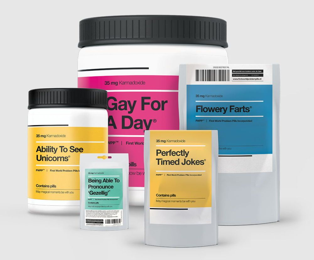 First world problem pills in 2020 packaging design