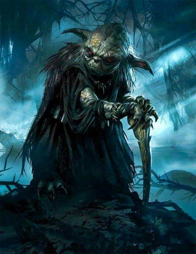 Dark Yoda Star Wars Fan Art Star Wars Art Star Wars Artwork