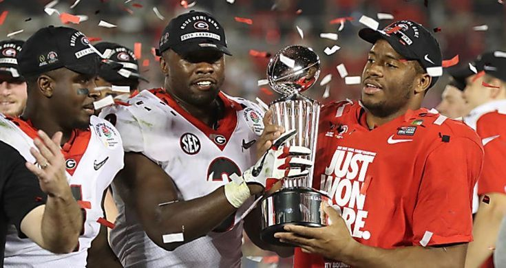 29b901774ca Sony Michel, Roquan Smith, and Nick Chubb. 54-48 double overtime Rose Bowl  2018. Possibly one of the best college football games ever played. - Sale!