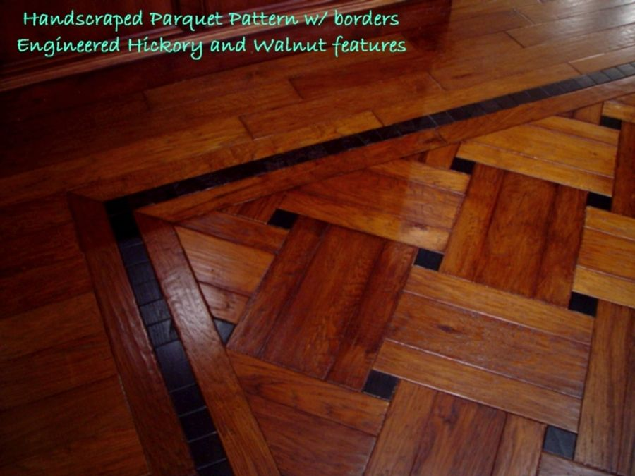 Hardwood Floor Designs foyer with maple plank floor with zebra wood inlay Wood Floor Pattern