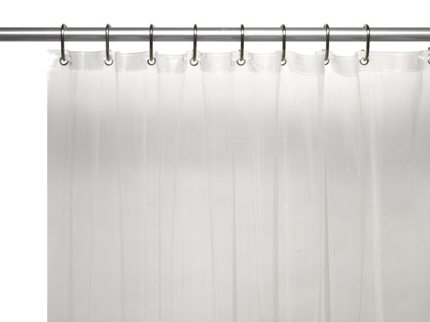 Royal Bath Extra Wide 5 Gauge Vinyl Shower Curtain Liner With Metal Grommets In Super Clear