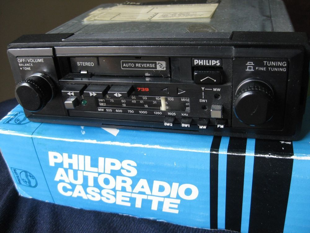 Details about VINTAGE PHILIPS 90AC739 SW STEREO AUTO CAR