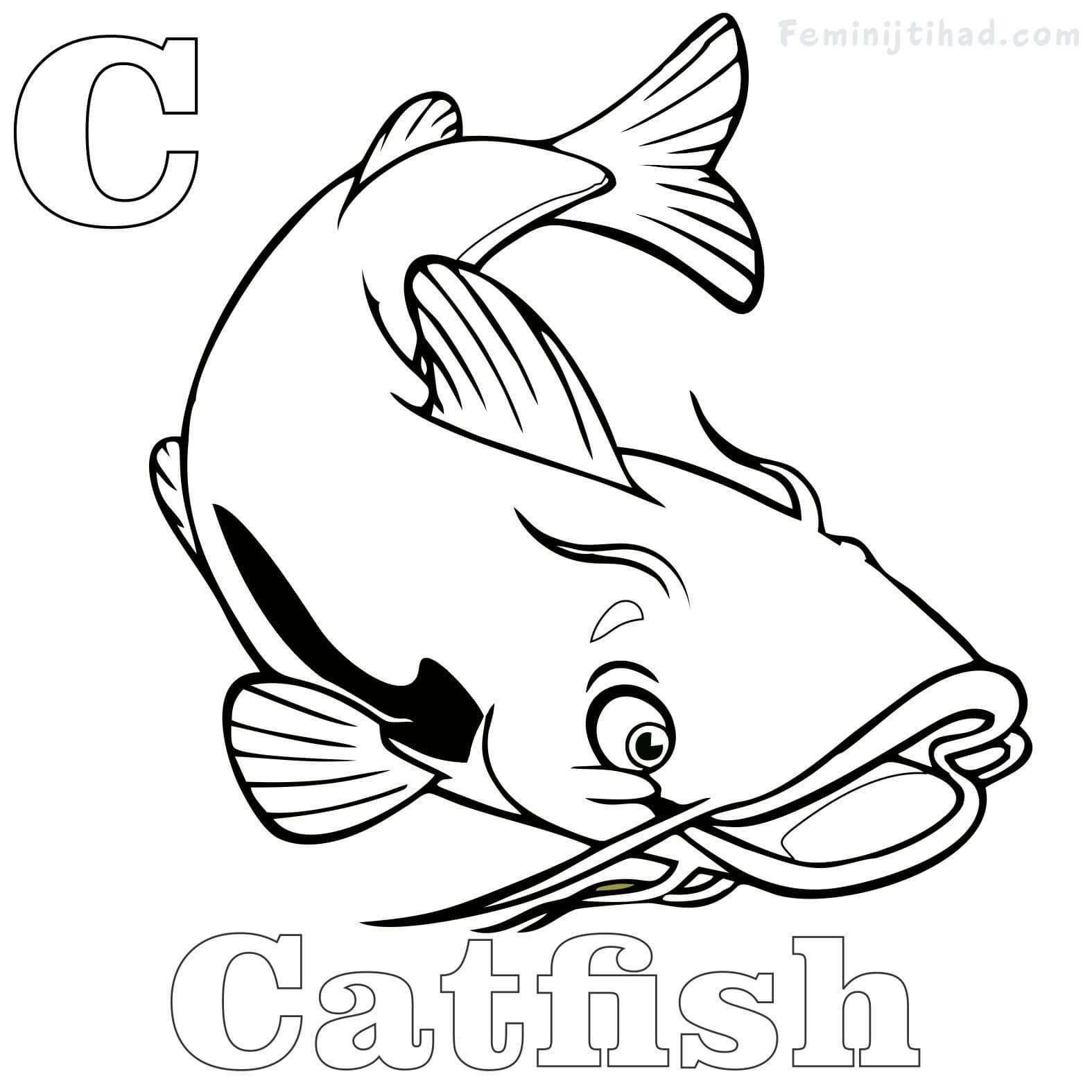Catfish Coloring Pages Printable Free Pdf Free Coloring Sheets Animal Coloring Pages Coloring Pages Catfish