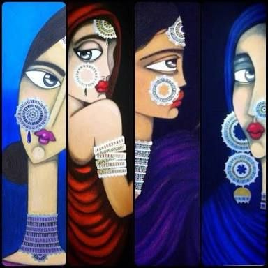 muniba mazari paintings - Google Search | Mixed media artists, Artist,  Tribal art
