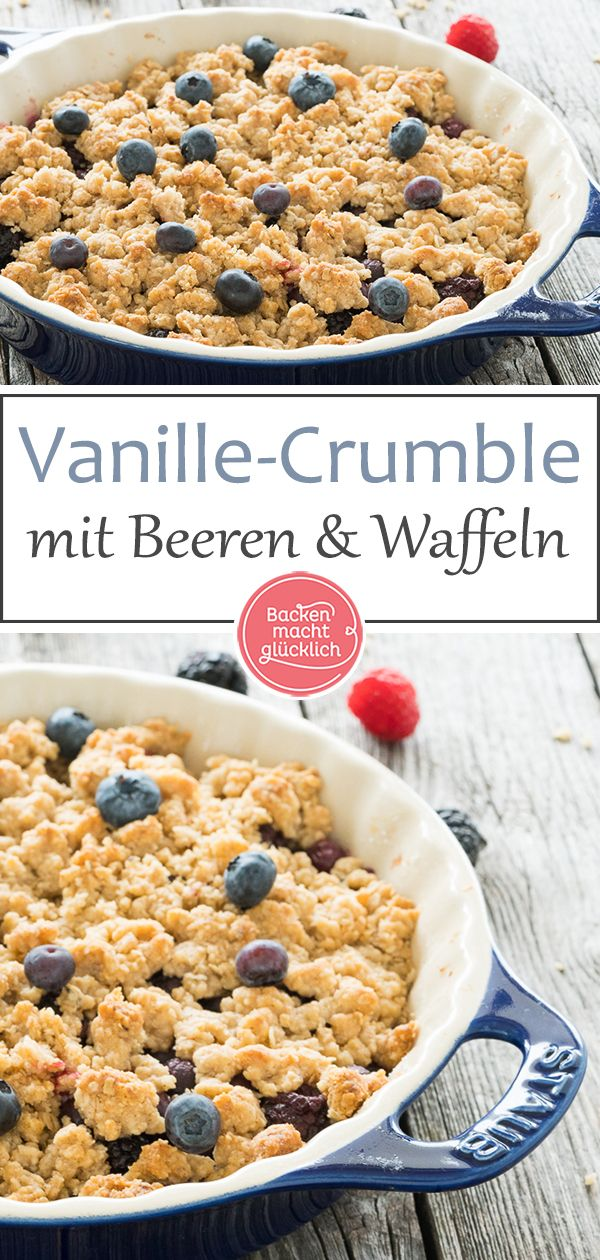 Beeren-Crumble mit Haferflocken | Backen macht glücklich