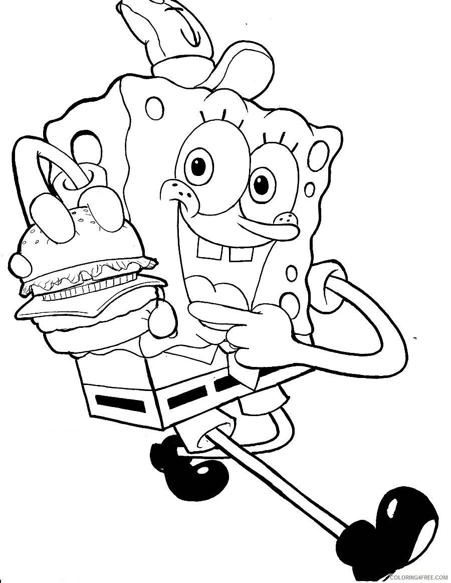 Krabby Patty Coloring Pages