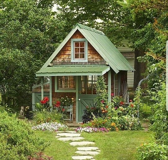 Pin by randy wagner on She Shed Ideas | Small cottage ...