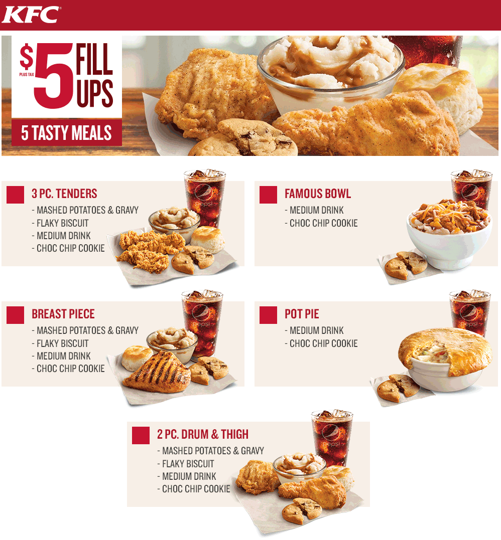 Pinned July 10th 5 meal deals going on at KFC coupon