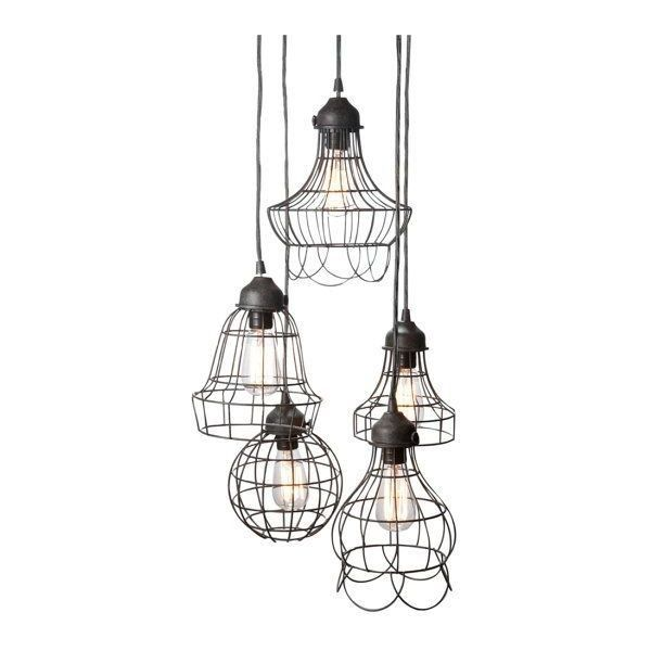 Oval wire bulb cage pendant light trouble lamp vintage industrial ❤ liked on