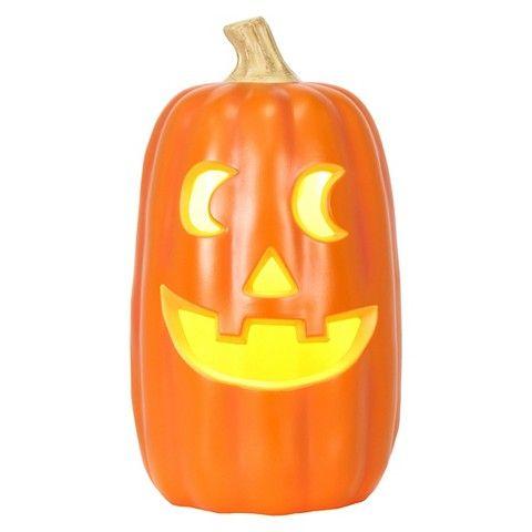 """Halloween Classic Lit Pumpkin Orange - 16"""""""