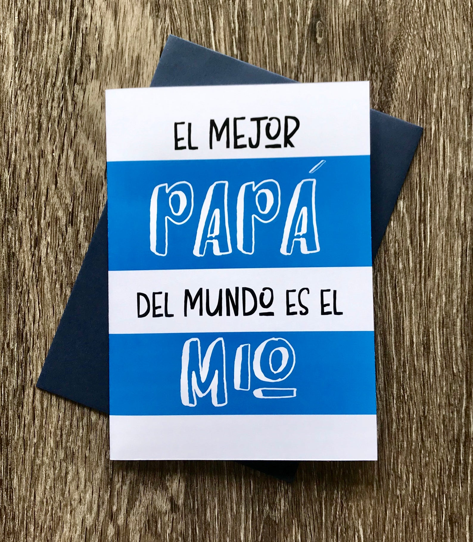 El mejor papa del mundo, Tarjeta para papa, Feliz dia del padre, Spanish Fathers Day Card