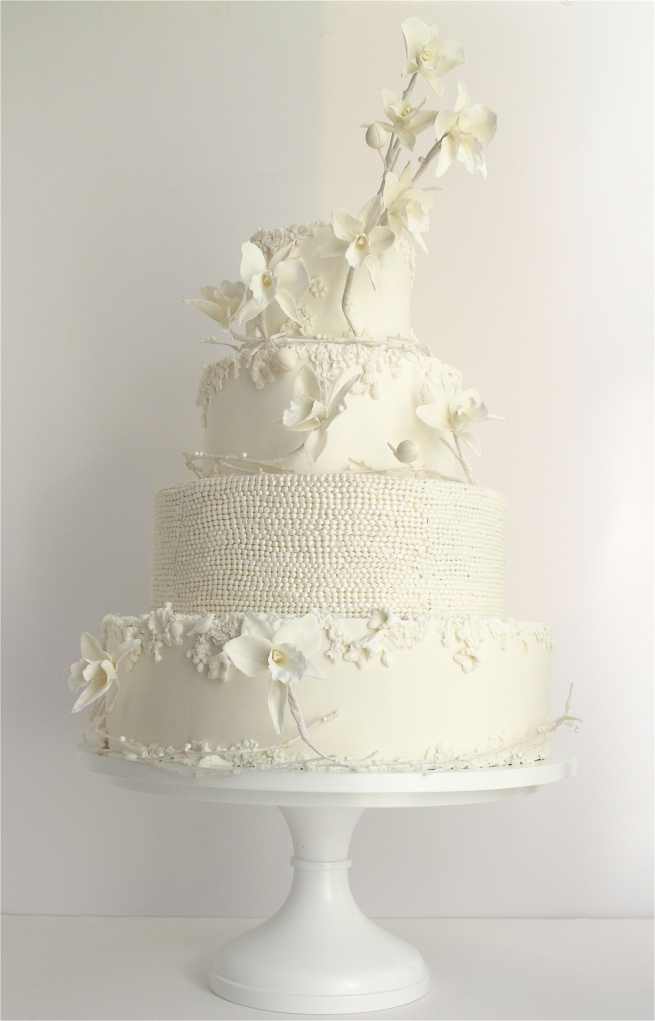 Maggie Austin Cake White Orchid Cake Wedding Cakes Desserts - Austin Wedding Cake