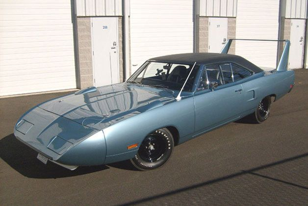 1970 Plymouth Superbird. If you're not a car fanatic and it looks familiar, you may have seen a character in Disney's Cars based on this muscle car. This one was up for auction at Barrett-Jackson but didn't sale.