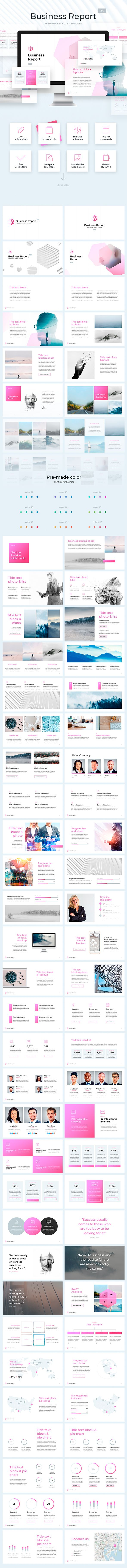 "Professional Keynote Template ""Business Report 2 0"" - 70+ Unique"