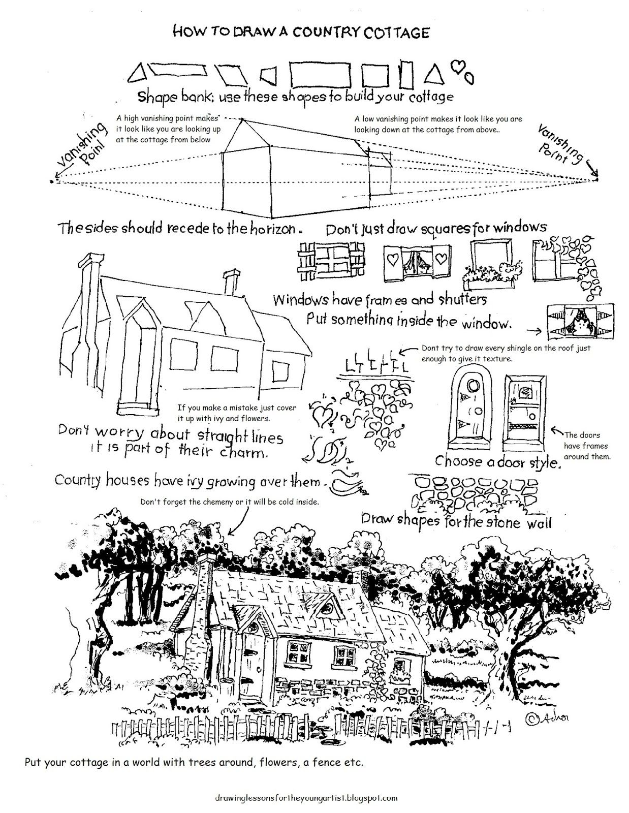 This Free Printable Drawing Worksheet How To Draw A