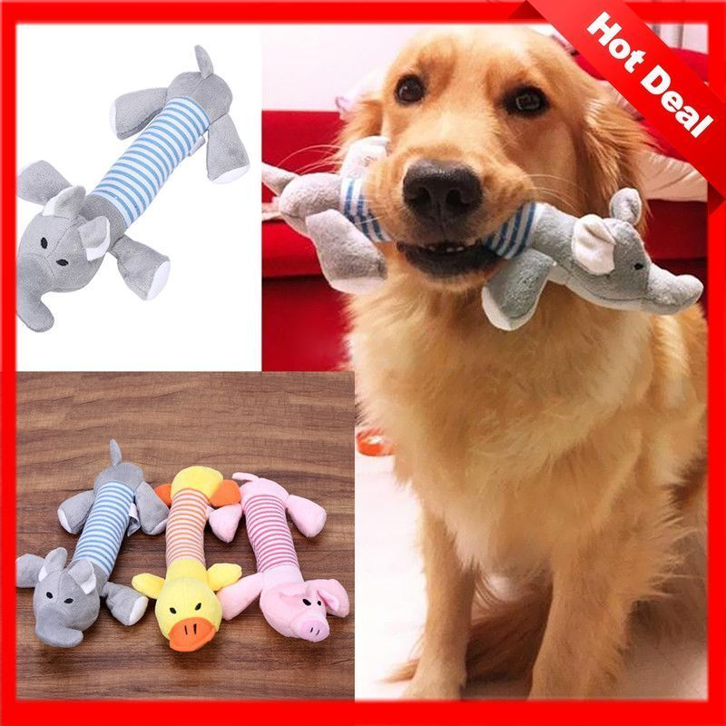 Details About Cute Pet Puppy Plush Sound Dog Toys Pet Puppy Chew