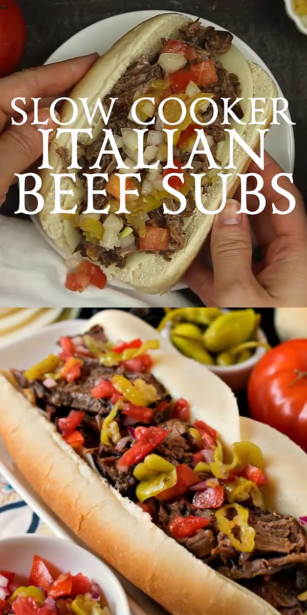 Slow Cooker Italian Beef Subs Our Slow Cooker Italian Beef Subs are an easy and delicious way to feed a crowd Fork tender beef nestled in a soft sub roll and topped with...
