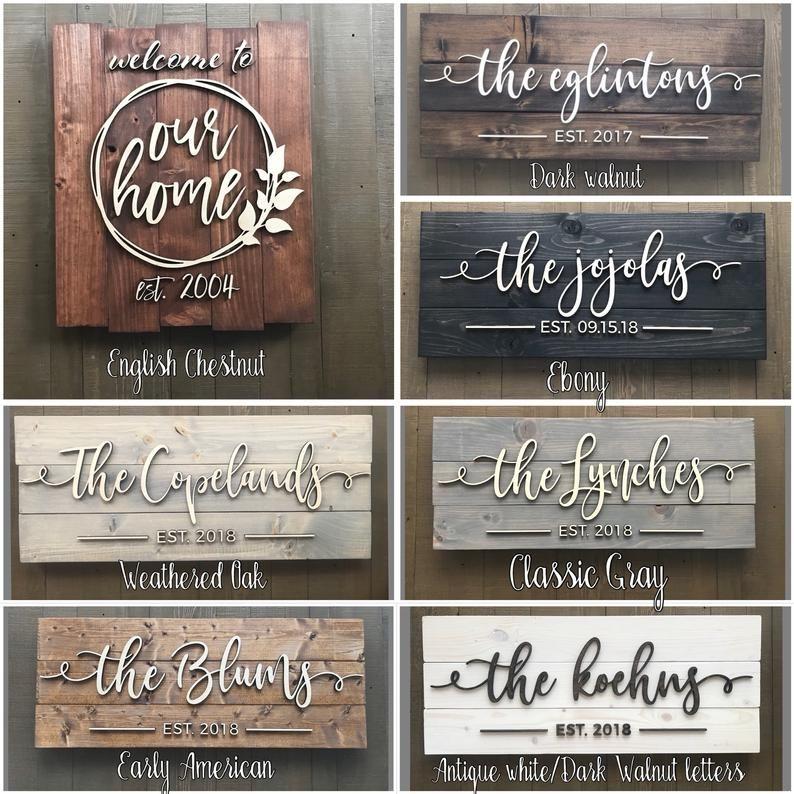 Wedding Gift | Family Name Sign | Bridal Shower Gi