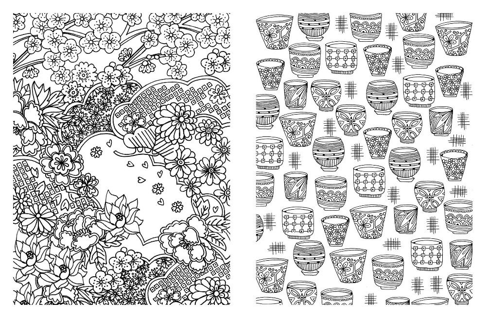 Posh adultos Coloring Book : diseños japoneses para diversión y ...
