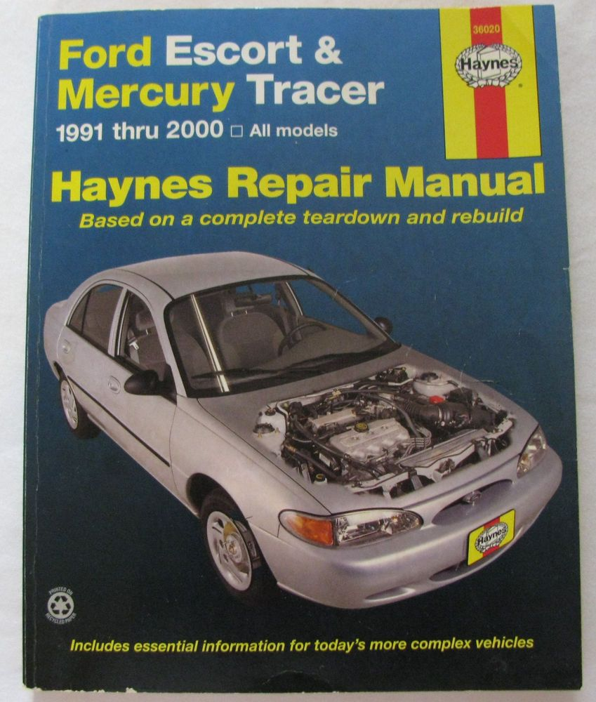 haynes service repair manual 36020 ford escort mercury tracer 1991 rh pinterest com Mercury Wagon Mercury Wagon