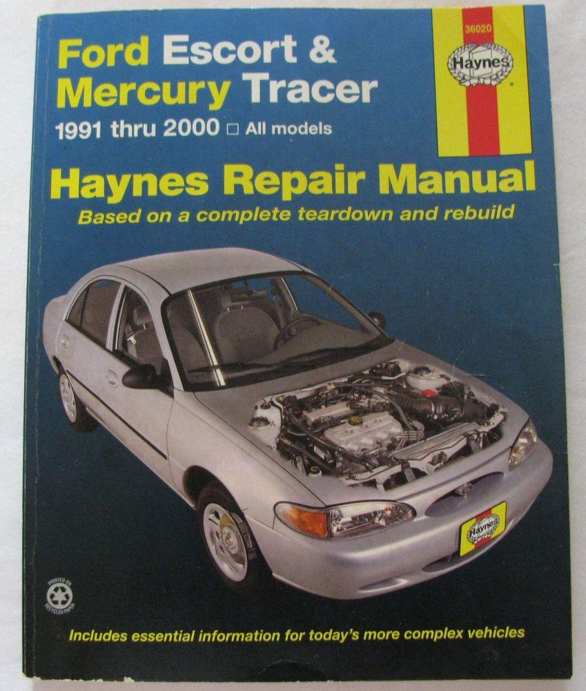 Haynes service repair manual 36020 ford escort mercury tracer 1991 2000