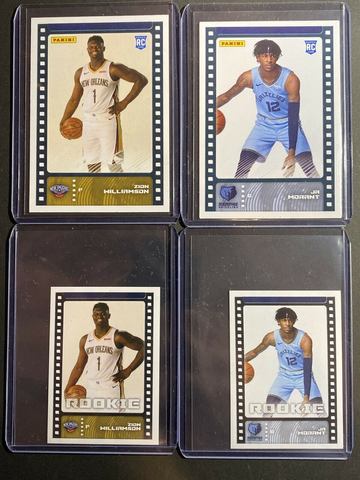 Panini Sticker And Card Collection Zion Williamson Ja Morant Rookie Cards Lotx4 In 2020 Cards Basketball Cards Memphis Grizzlies