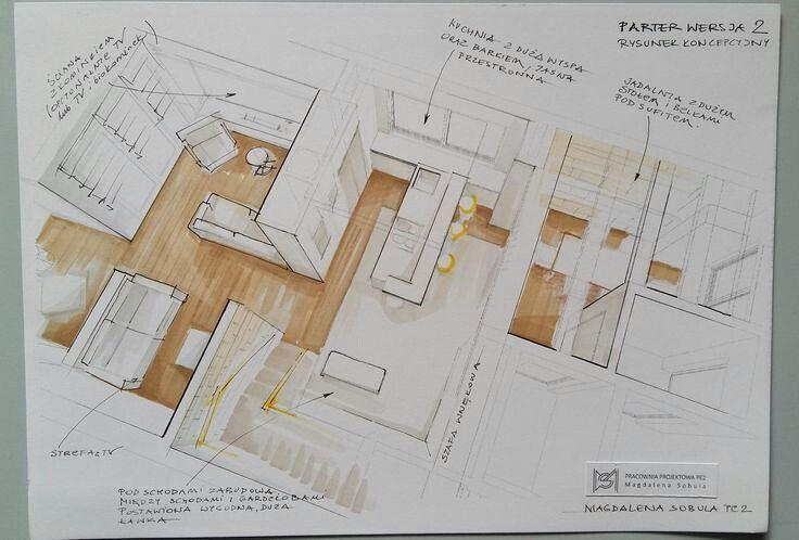 361 Otmetok Nravitsya 1 Kommentariev Interior Designer Pe2 Magdalena Sobula V Instagram One Pos With Images Interior Sketch Architecture Drawing Technical Drawing