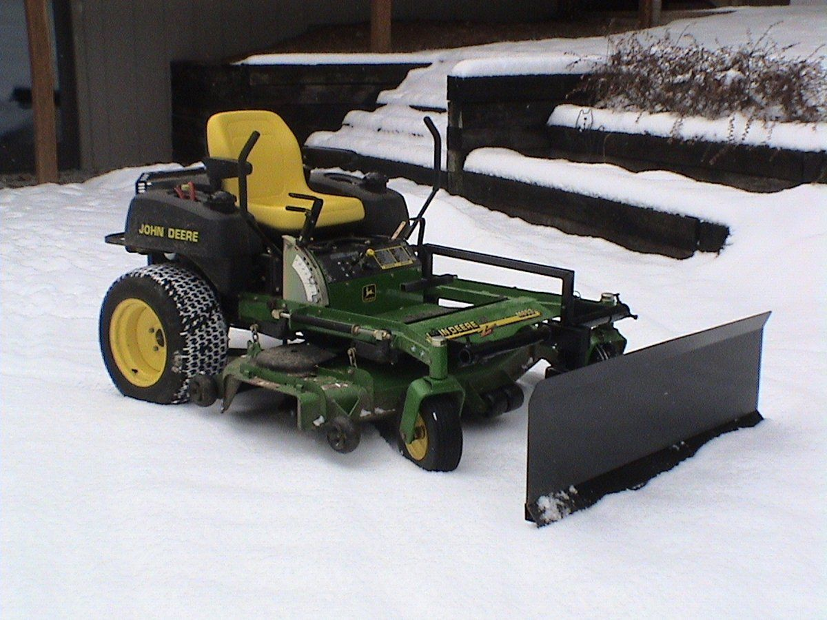John Deere Snow Plow Zero Turn Snow Plow Whoever Made That Was An Idiot All That S