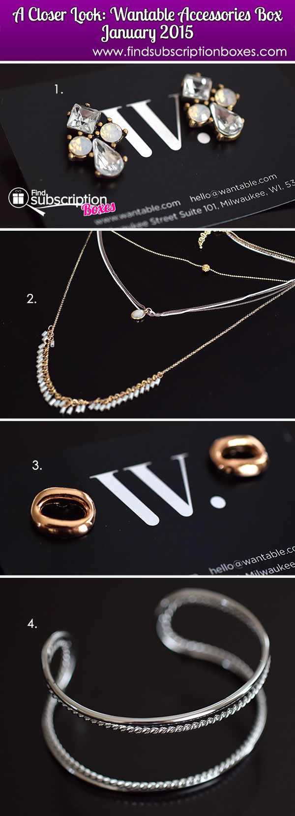Check out the lovely metal toned items in our Wantable Accessories January 2015 Box - these are perfect for adding a little sparkle and shine to outfits! http://www.findsubscriptionboxes.com/a-closer-look/wantable-accessories-january-2015-box-review-022015/ @wantable