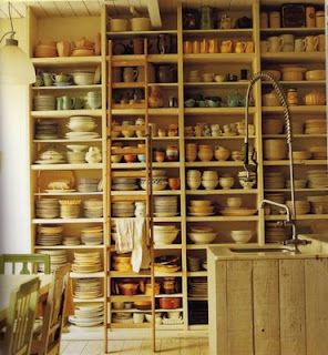 beautiful open display of dishes