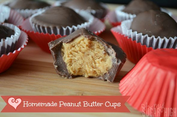 Homemade Peanut Butter Cups- Oh my! Sugar High featured on SWEET HAUTE at the Show Me Saturdays link up party!