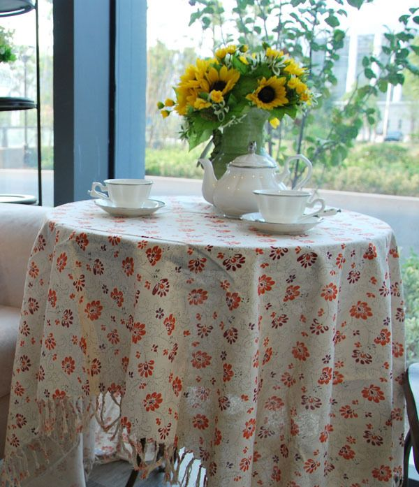 Country Style Table Cloths Tablecloths Cotton Cover Tablecloth Intable Cloth