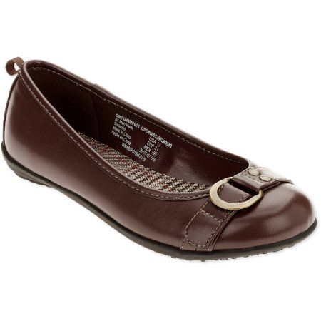 Faded Glory Girls' Buckle Casual Shoe, Infant Girl's, Size: 12, Brown