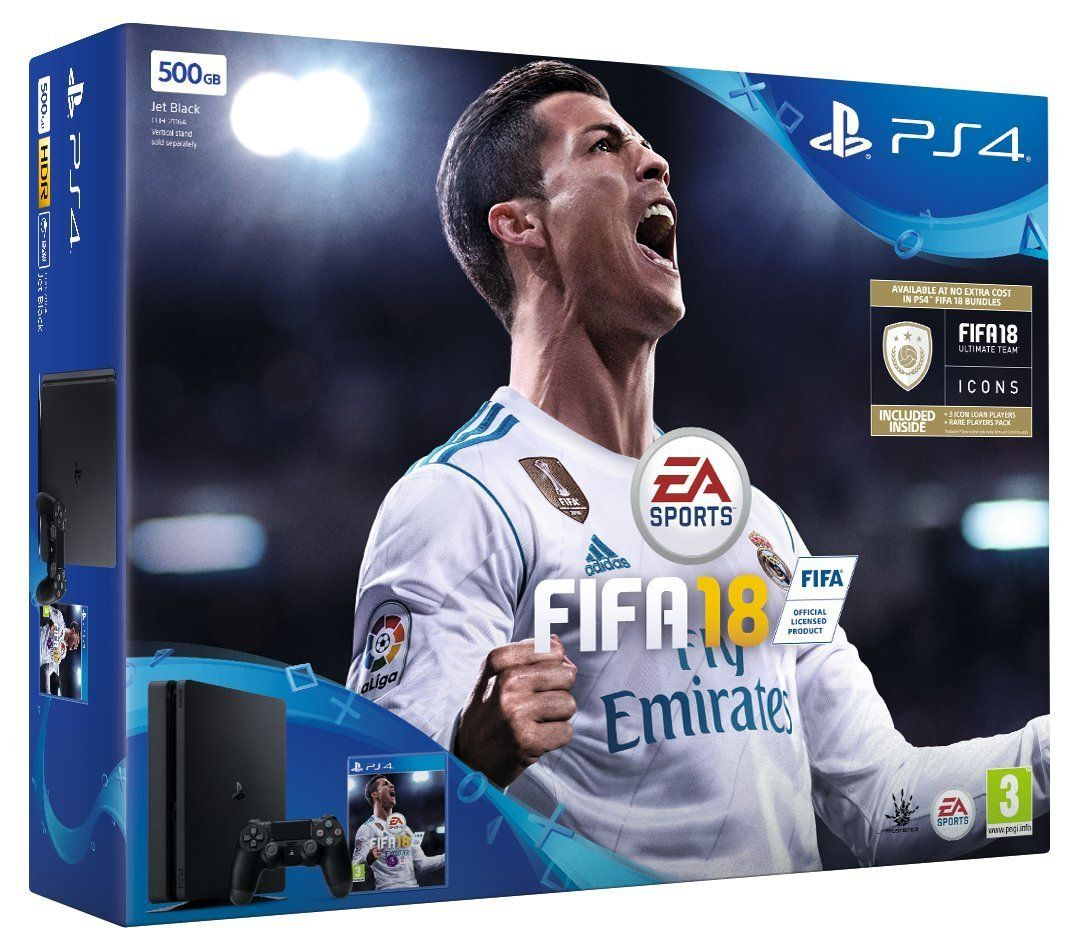 £199!! Sony PS4 500 GB, 1 controller, FIFA 18 Bundle with