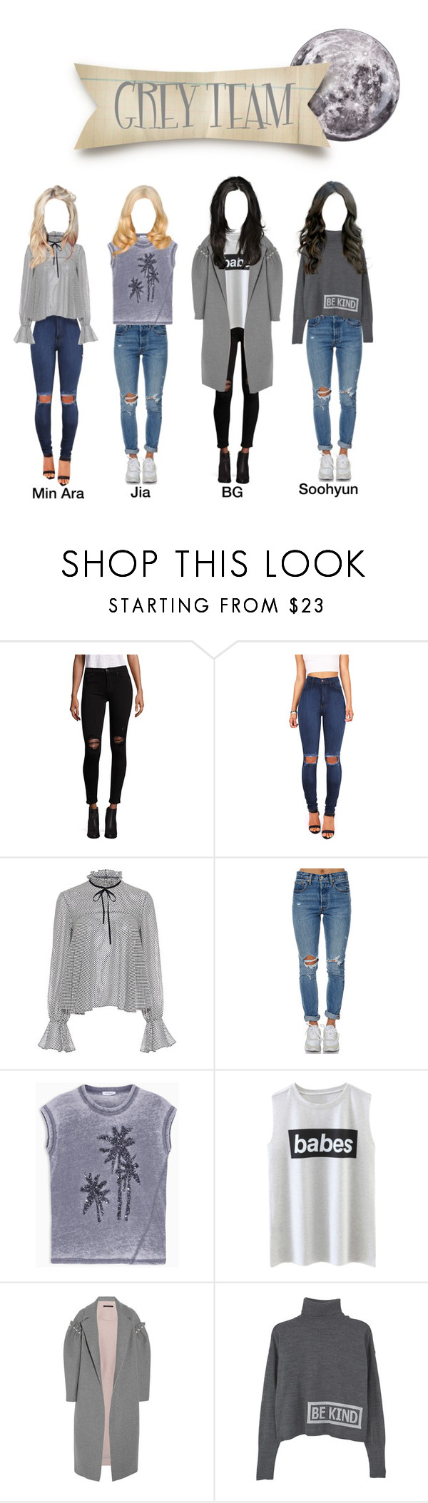 """""""[Rexanne Life] Grey Team"""" by rexanne-official ❤ liked on Polyvore featuring Hudson, Vibrant, Saloni, Levi's, Max&Co., Mother of Pearl, MANGO and Seletti"""