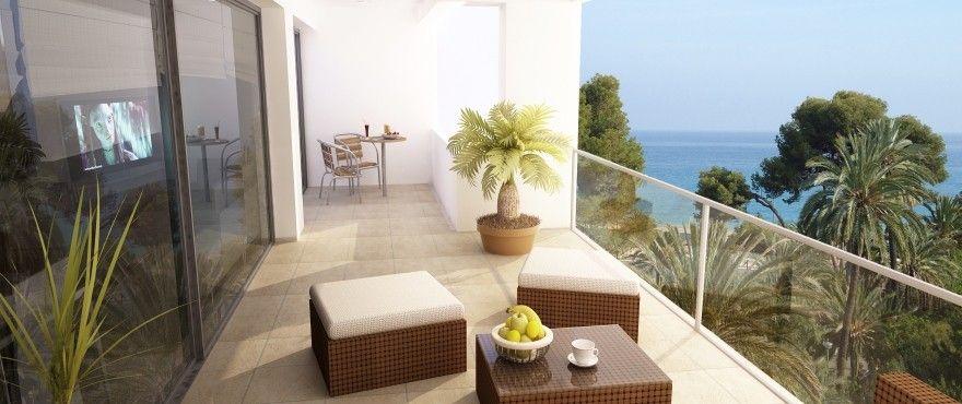 Terrace with breathtaking view over the Mediterranean ocean in La