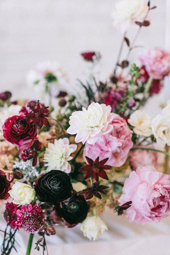 Romantic Valentine S Day Proposal Inspiration 100 Layer Cake White Flower Arrangements Beautiful Wedding Flowers Contemporary Flower Arrangements