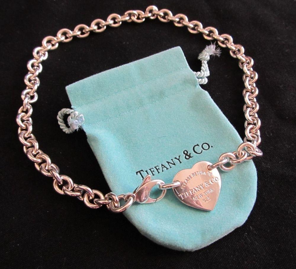 Authentic Tiffany Return To Tiffany Heart Tag Choker