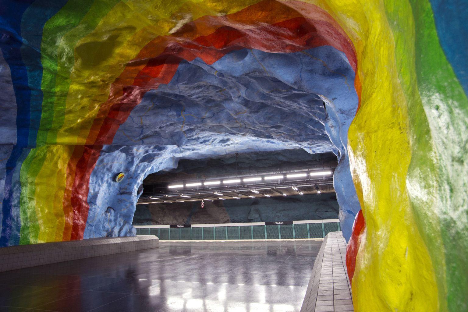 Best Subway Stations In Europe Stadium Station Stockholm Stockholm S Stadium Subway Station Copyright Atmosphere1 Subway Europe Station