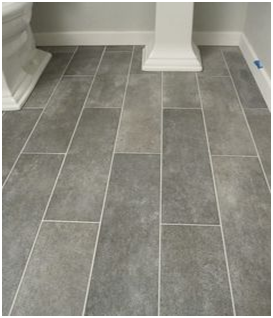 Take A Look At This #flooring Optionit's A Wide Plank Tile For Amazing Bathroom Flooring Options Inspiration