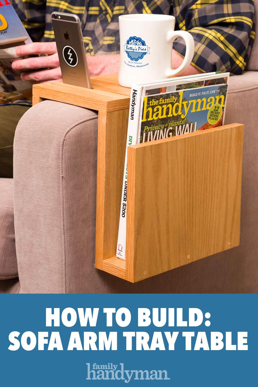 Stupendous Saturday Morning Workshop How To Build A Sofa Arm Tray Creativecarmelina Interior Chair Design Creativecarmelinacom