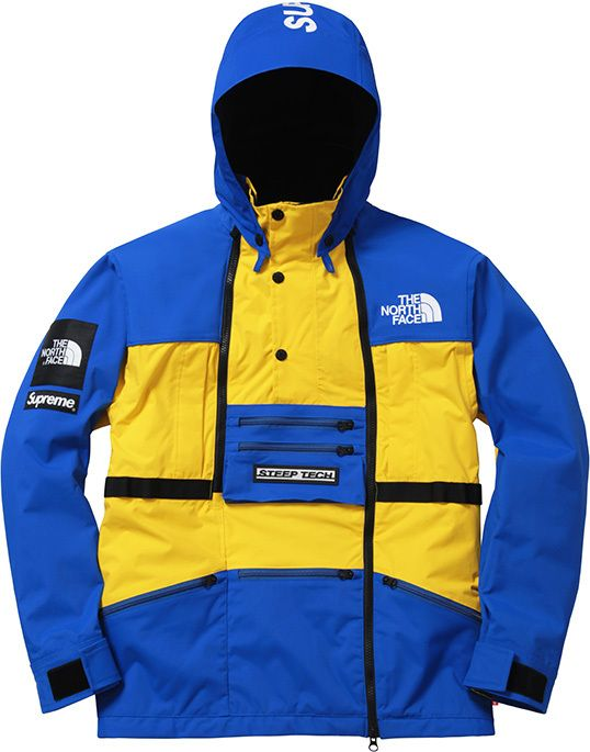 abrigo north face x supreme