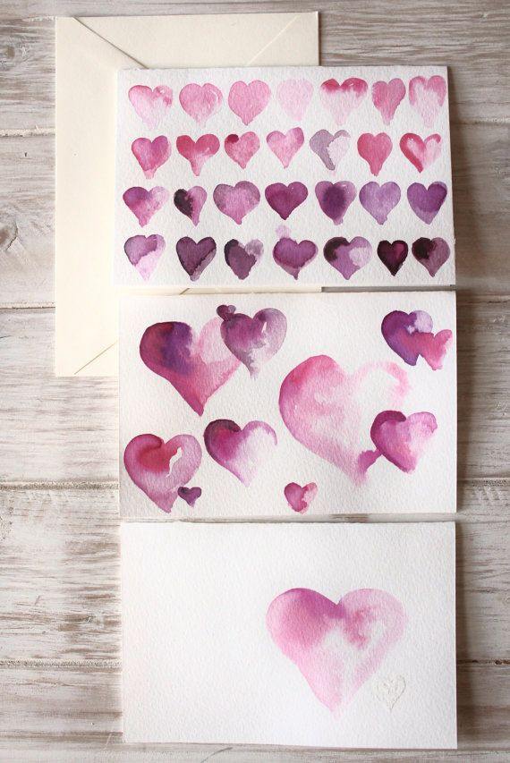 Watercolor Valentine S Cards Pink Valentines Watercolor