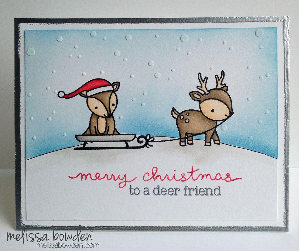 Christmas Fawn card