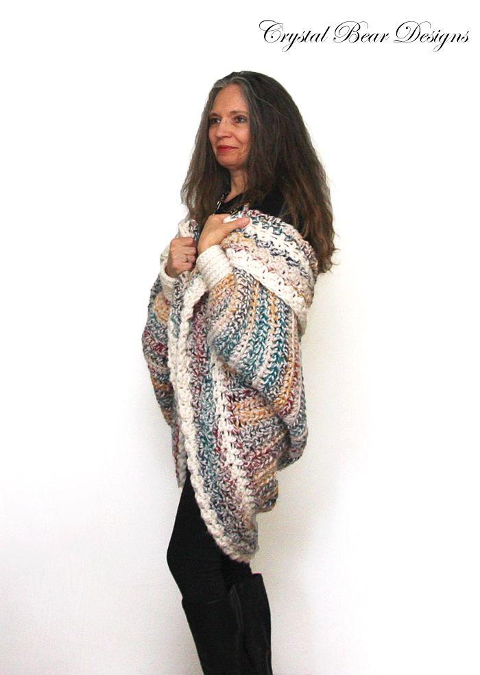 Luxe Oversized Shrug pattern by Bernadette Prokopetz | Ponchos ...
