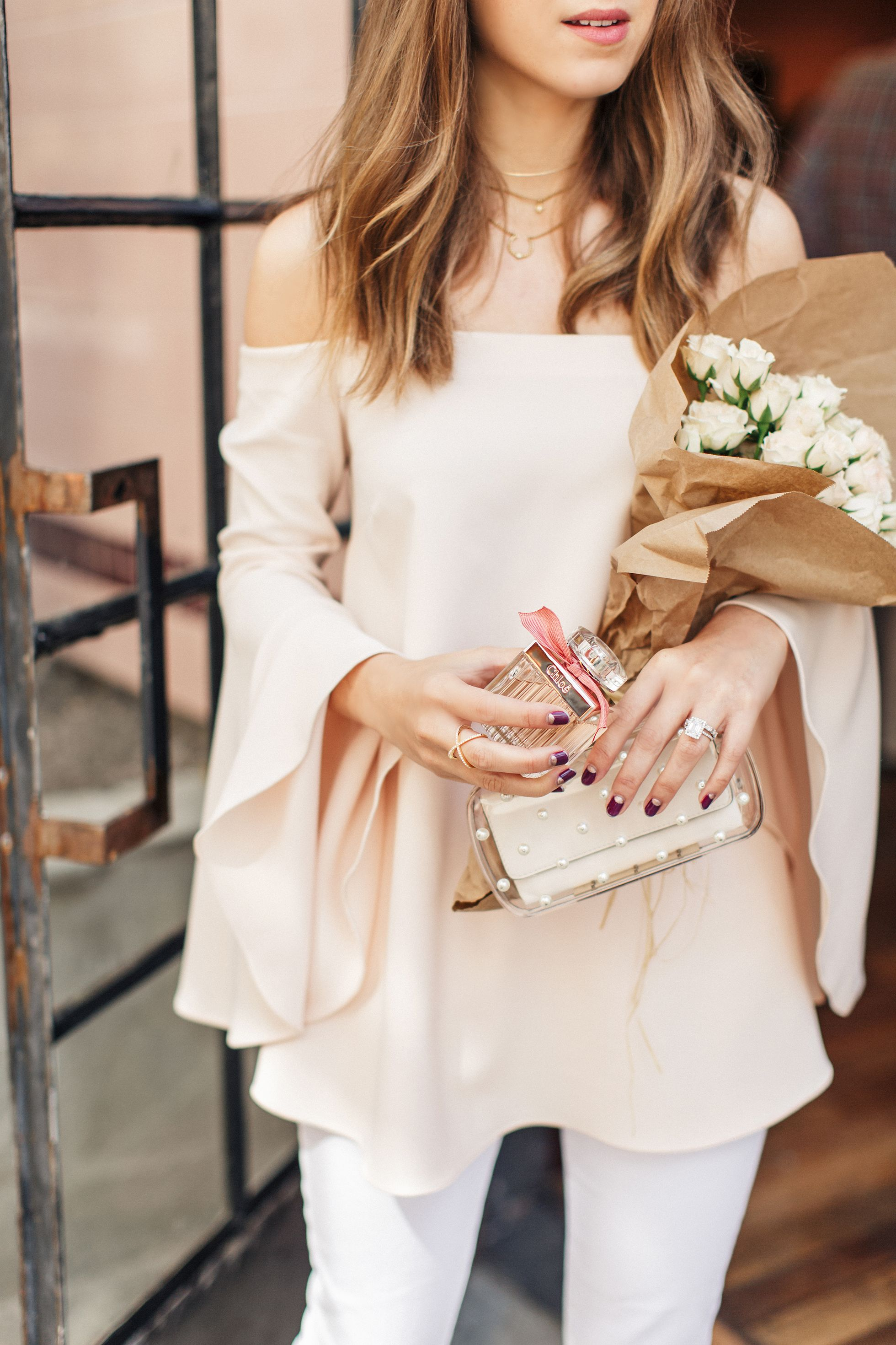 Dainty and detailed clutch and jewelry // Jenny of Margo & Me